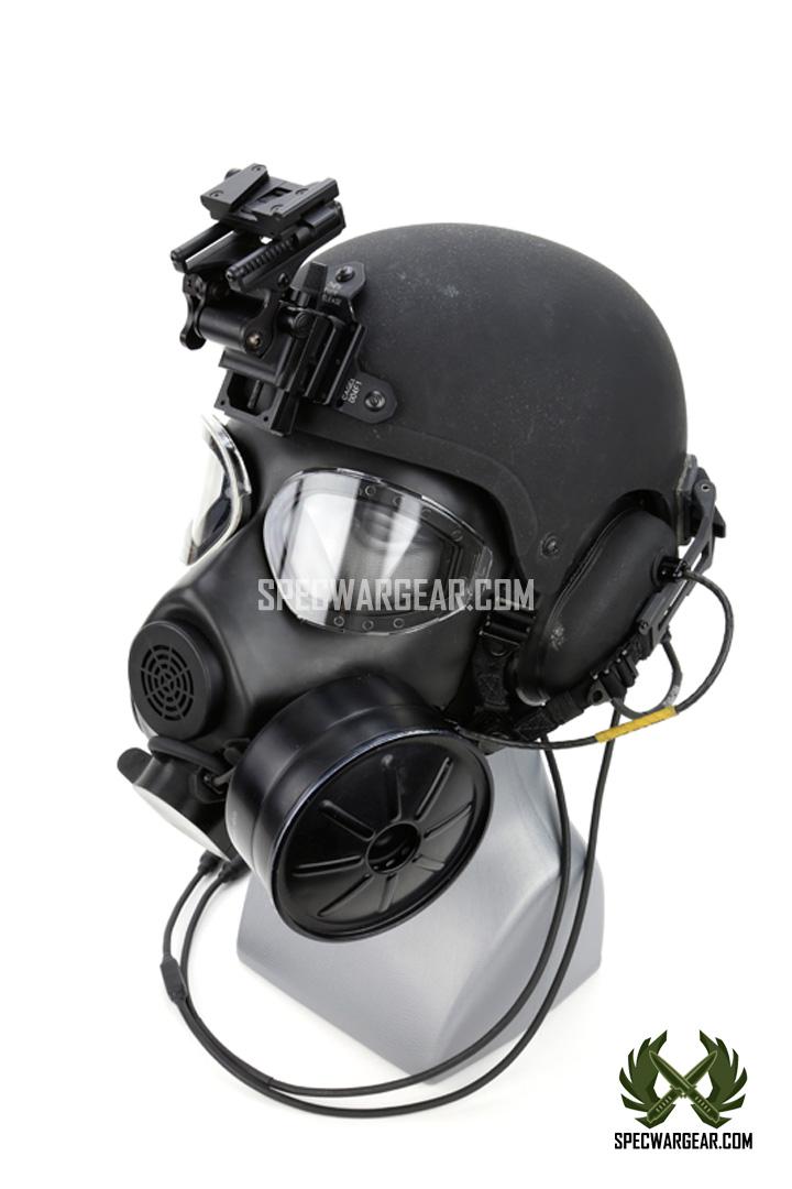 Ilc Dover Integrated Ballistic Helmet Ibh M45 Gas Mask