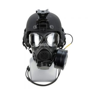 ILC Dover Integrated Ballistic Helmet (IBH) + M45 gas mask