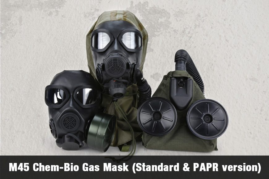 M45 Chem-Bio Gas Mask (Standard & PAPR version)