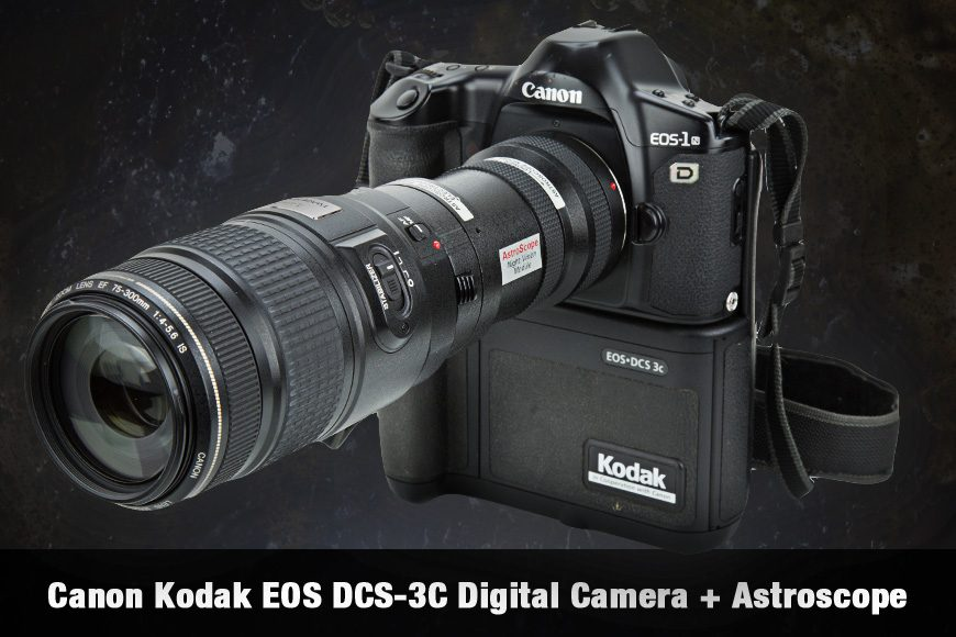 Canon Kodak EOS DCS-3C Digital Camera + Astroscope
